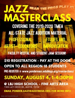 Region 18 Jazz Masterclass Flyer-2019
